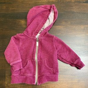 Carter's Maroon Colored Zip Hoodie